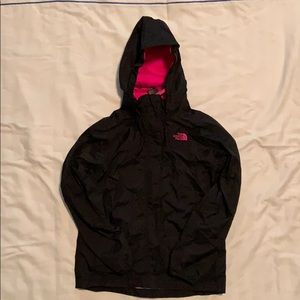 North Face black jacket size 14/16